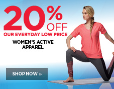 20% off women's activewear