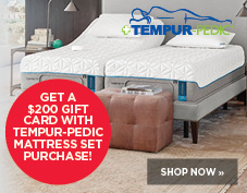 $200 gift card with Tempur-pedic mattress set purchase