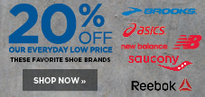 20% Off Athletic Shoes from Asics, Brooks, New Balance, Reebok and Saucony