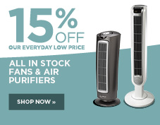 15% off all fans and air purifiers