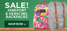 Jansport and Hershel backpacks on sale