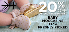 20% off Freshly Picked baby moccasins
