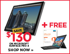 Save $130 on Microsoft Surface Pro 4