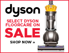 Select Dyson floor care on sale