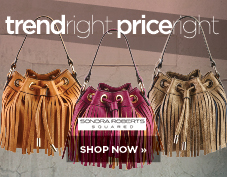 Trend right, price right bags from Sondra Roberts