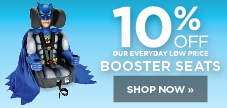10% off booster seats