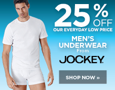 25% off men's Jockey underwear