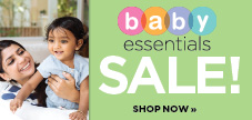 Shop our baby essentials sale