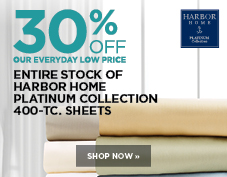 30% off Harbor Home Platinum Collection