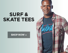 Men's surf and skate tees on sale