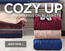 Cozy up to big savings on blankets