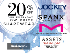 20% off Shapewear from Jockey, Spanx, Maidenform, and Assets Red Hot Label