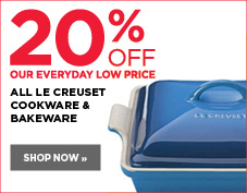 20% off Le Creuset cookware and bakeware