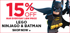 15% off Lego Batman and Ninjago