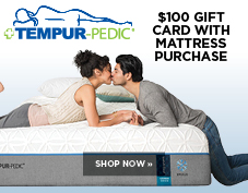 $100 gift card with every Tempur-Pedic mattress purchase