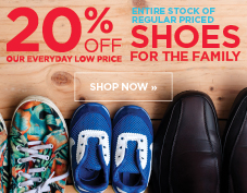 20% off shoes for the family