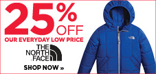 25% off kids' The North Face