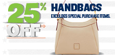 25% off Entire Stock of Regular Priced Handbags