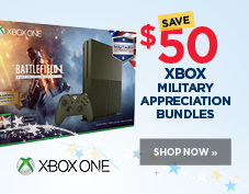 Save $50 on Xbox One Military appreciation bundles