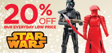25% OFF STAR WARS TOYS