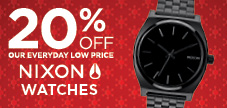 20% OFF NIXON WATCHES