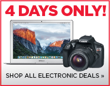 4 days of electronics deals, shop now