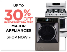 Up to 30% off major appliances