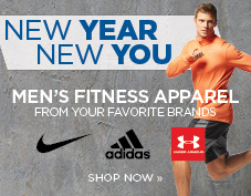 New Year, new you. Shop men's fitness apparel