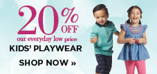20% off kids' playwear