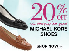 20% off Michael Kors shoes
