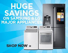 Huge savings on Samsung and LG major appliances