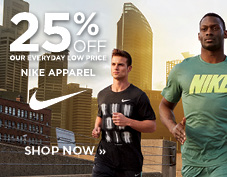 25% off Men's Nike Apparel