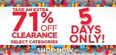 5 Day Clearance sale