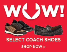 WOW! Select Coach shoes on sale
