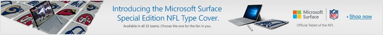 Microsoft Surface NFL team covers