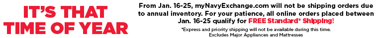 Free Standard Shipping from January 16 - 25