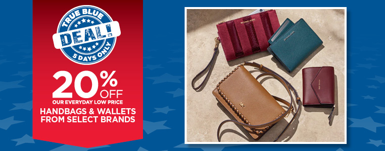 20% Off Handbags & Wallets from Select Brands