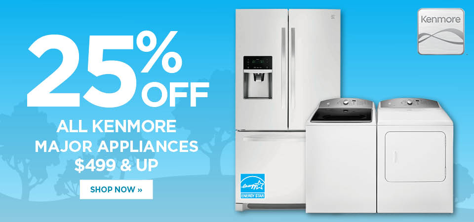 20% off Kenmore Major Appliances