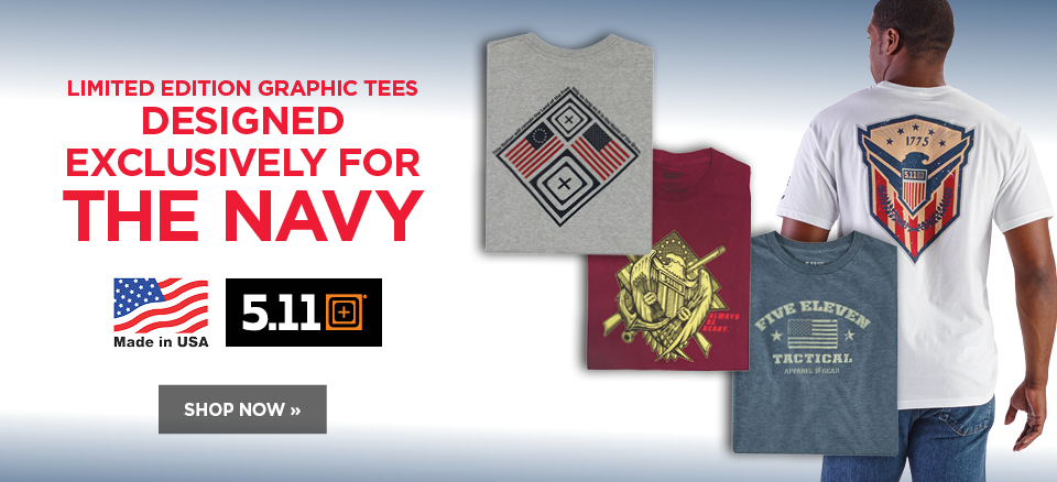5.11 tactical tees designed exclusively for the Navy