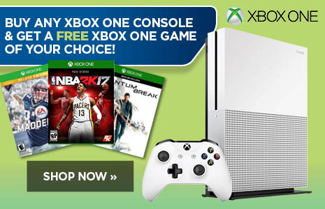 Buy Any Xbox One Console and Get A FREE Xbox One Game of your choice!