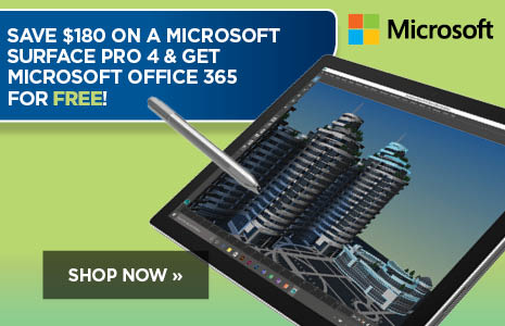 Save $180 on Microsoft Surface Pro 4 + get Microsoft Office 365 for FREE!