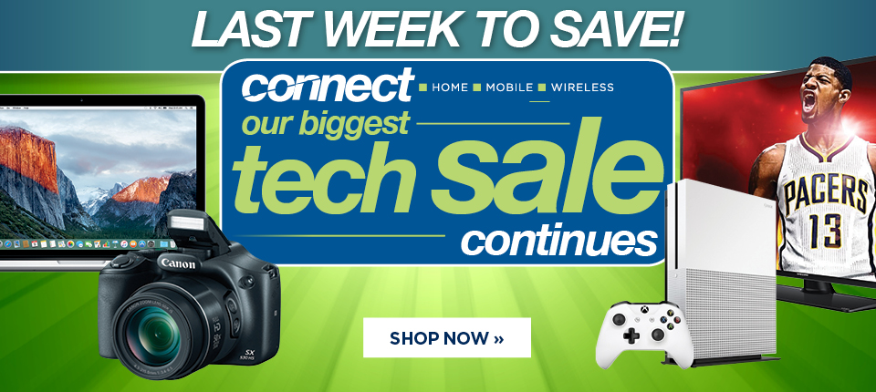 Shop our Connect Tech Sale for the lowest prices on electronics guaranteed