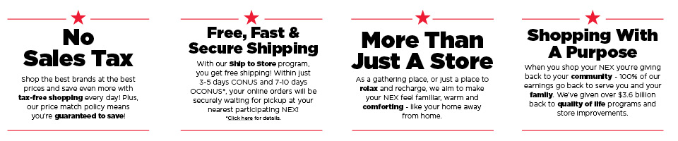 There's so many reasons to shop the NEX