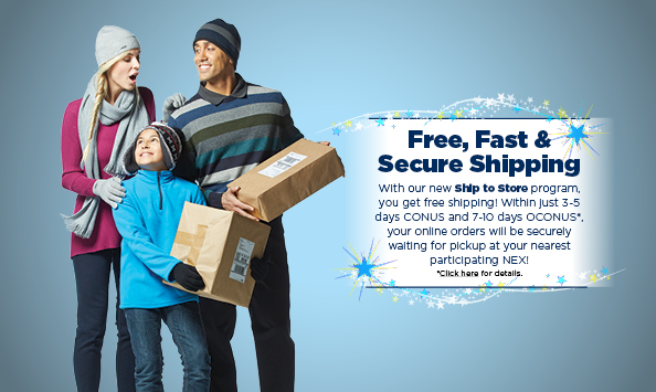 Free Shipping for online purchases of $49.95 or more