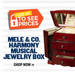 Mele & Co. Harmony Musical Jewelry Box