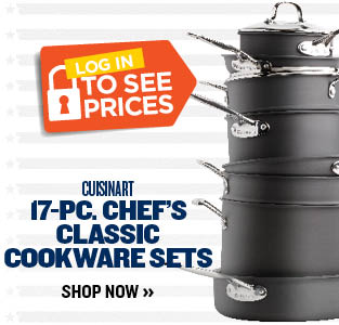 LOWEST PRICE OF THE YEAR CUISINART 17-PC. CHEF'S CLASSIC COOKWARE SETS