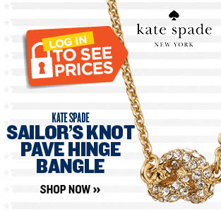 KATE SPADE SAILOR'S KNOT PAVE HINGE BANGLE