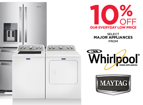 Save 10% On Select Whirlpool and Maytag Major Appliances