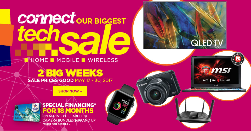 Connect. Our biggest tech sale of the year
