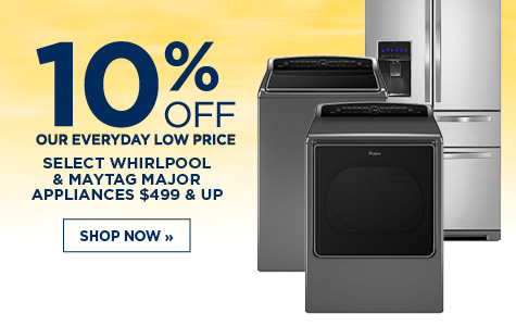 10% Off Select Major Appliances
